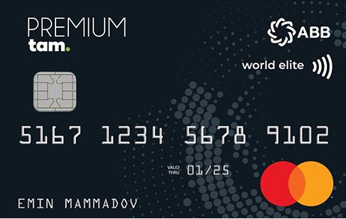 TamKart MasterCard Premium Debet kart, İmtiyaz və üstünlüklər verən TamKart MasterCard Premium Debet ödəniş kartı