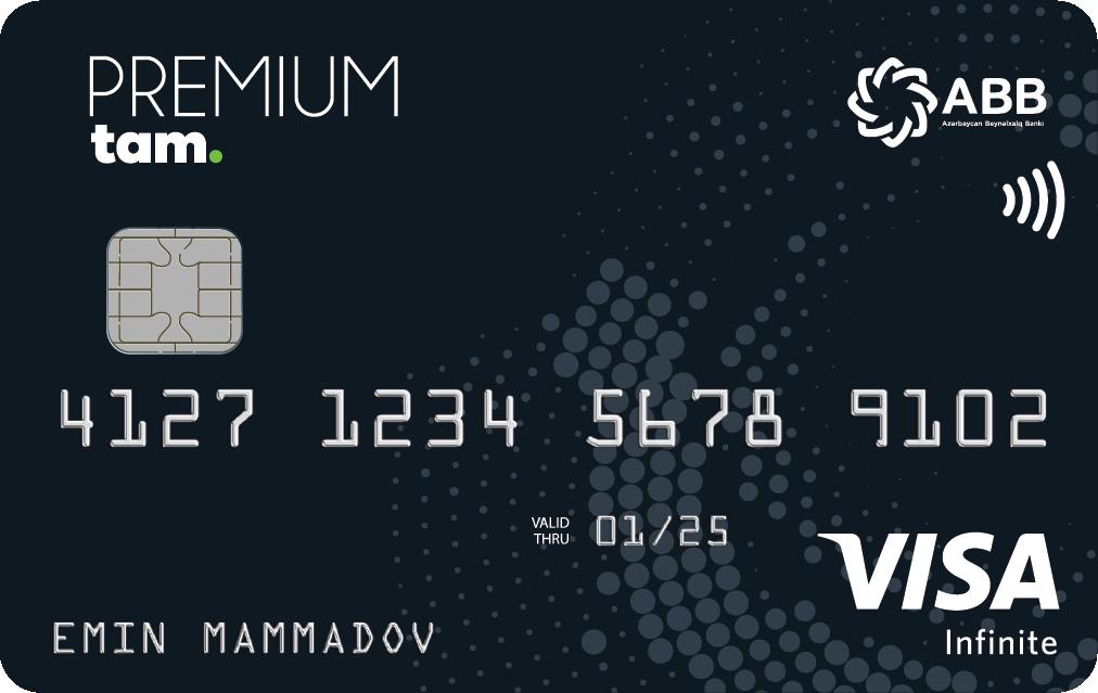 TamKart VISA Premium Debet, Xüsusi imtiyazlı TamKart VISA Premium Debet kartı, TamKart VISA Premium Debet card